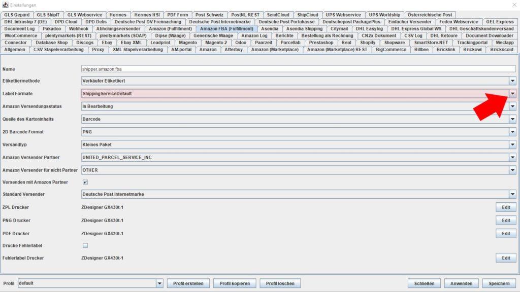 AmazonFBA Labelformate