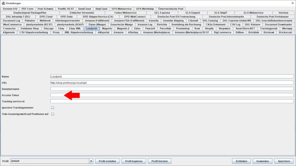 LeadPrint Access Token
