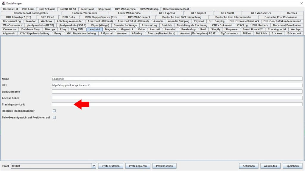 LeadPrint Tracking Service ID