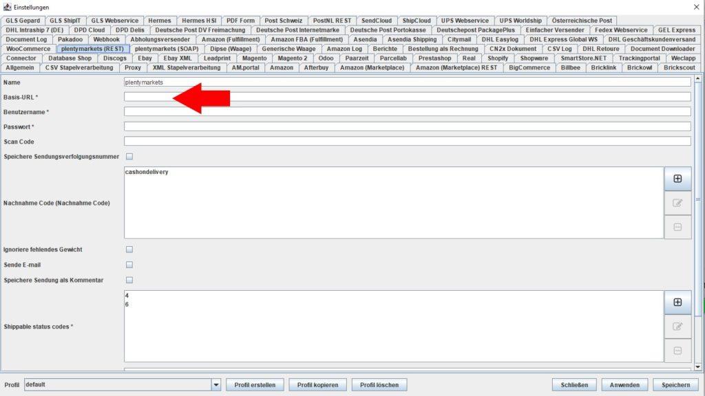 plentymarkets REST basis URL
