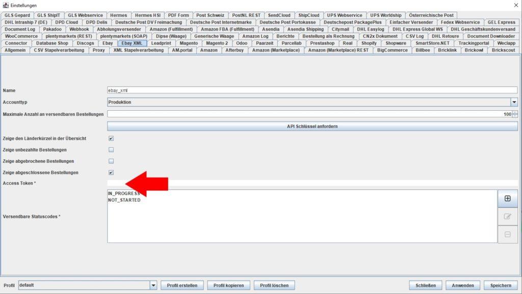 EbayXML Access token