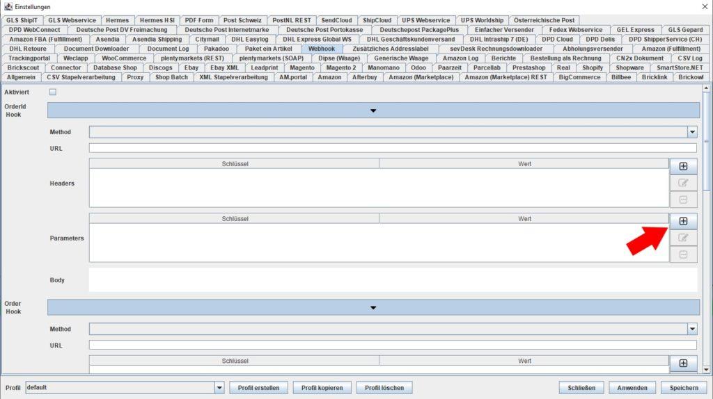 Webhook Parameters